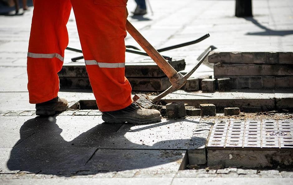 radovi, knez, mihailova, čumićeva, radnici, rekonstrukcija, ploče, obnova, beograd, put,