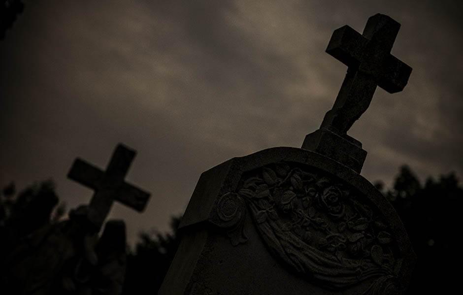 novo, groblje, noć, muzeja,
