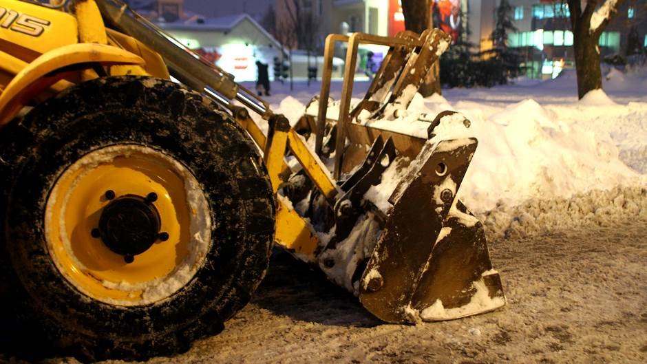 čišćenje, snijeg, grtalica