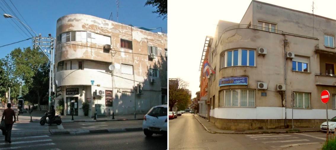 Stambene zgrade u Tel Avivu (lijevo) i Banjaluci (desno), izgrađene između dva svjetska rata...