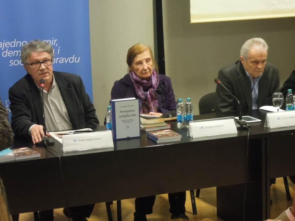 Promocija knjige Latinke Perović, Ivan Lovrenović, Asim Mujkić, Srđan Šušnica