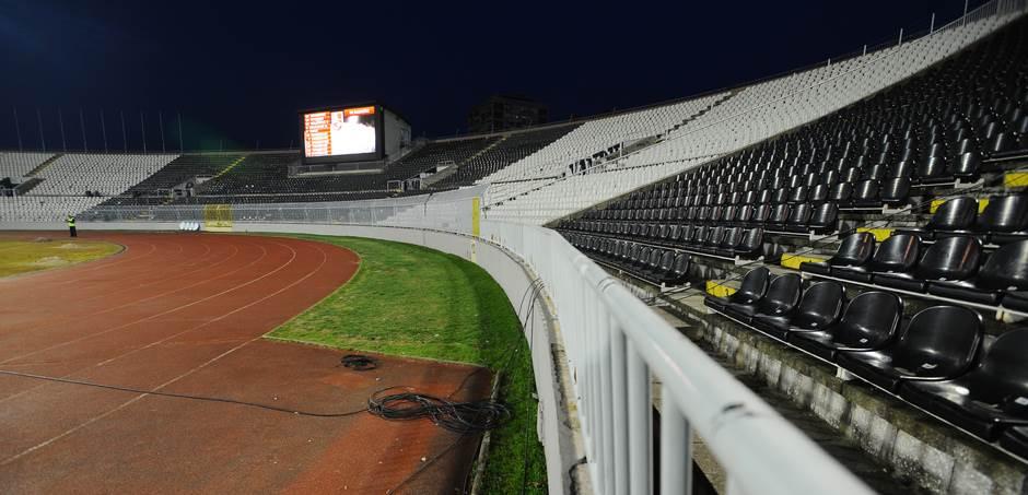 JNA, stadion Partizana, Partizan, prazne tribine