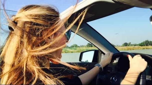 vožnja, kosa, mercedes