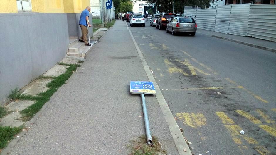 znak, taksi, ulica