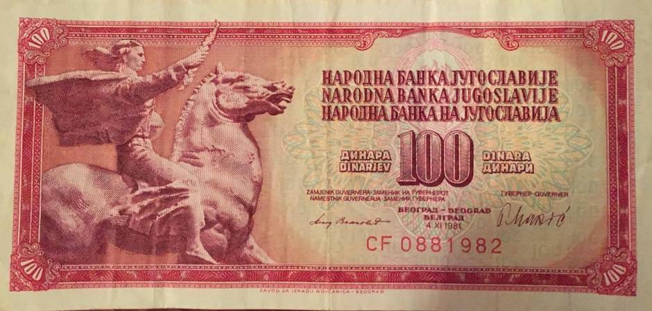 novčanice stare pare numizmatika stari novac jugoslavija SFRJ