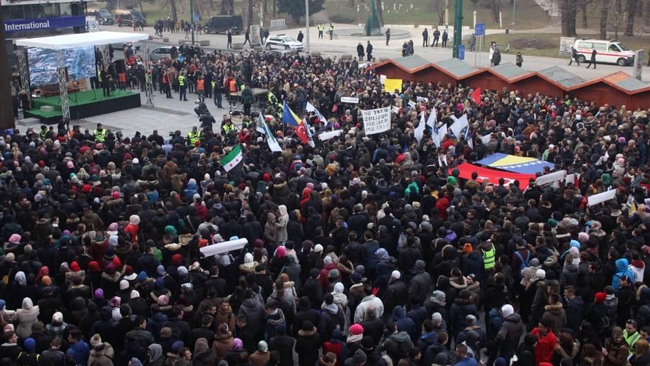 Protest, Sarajevo, Alepo