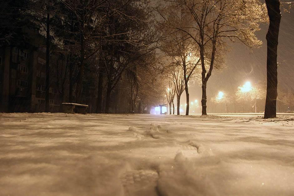 sneg, noć, zima, vejavica