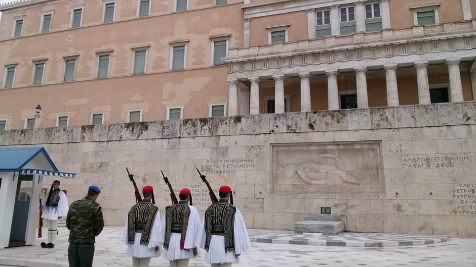 Atina, garda, vojnici, Sintagma, grčki vojnici