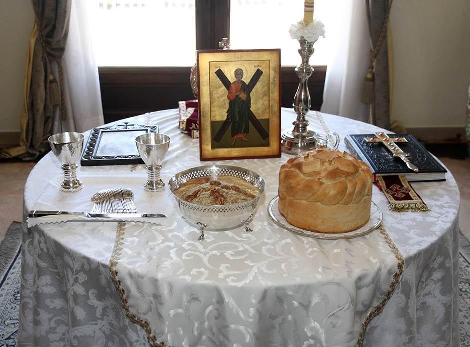 slava, dvor, sveća, ikona, slavski kolač, žito, vera ,religija