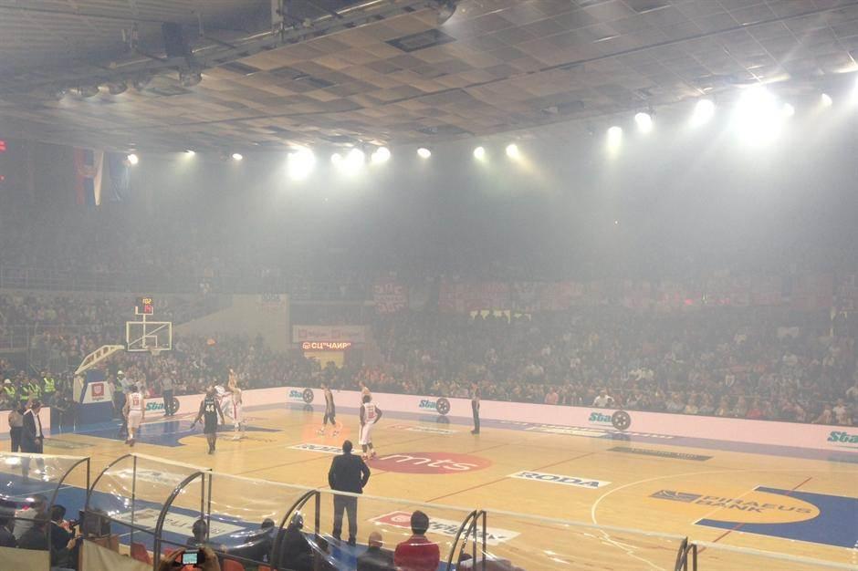 Kup Koraća Čair finale pirotehnika dim magla