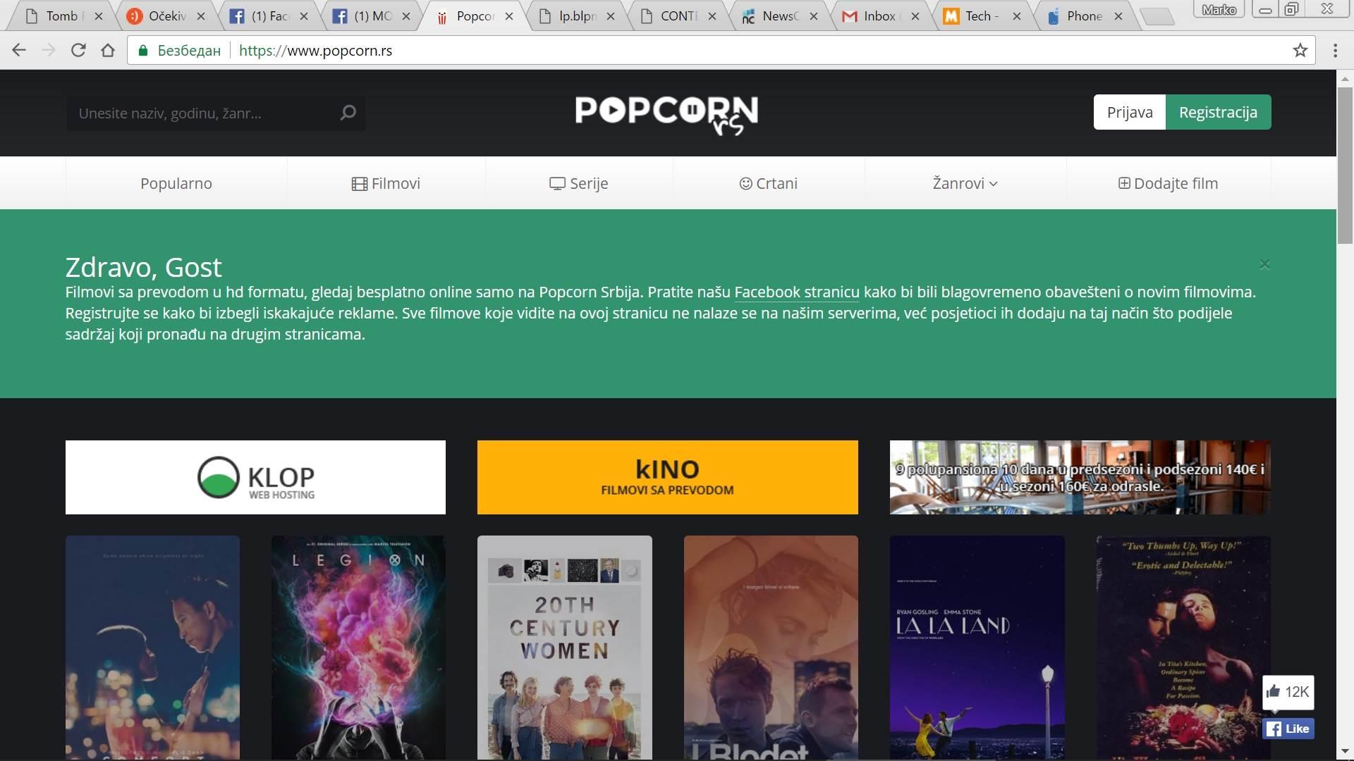 PopCorn.rs besplatno gledanje filmova virusi
