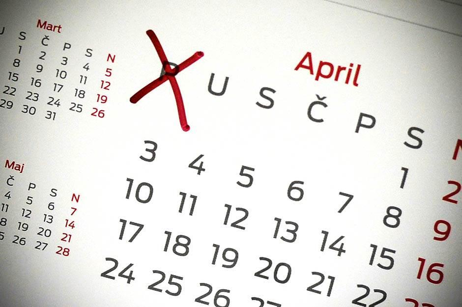 kalendar, ponedeljak, 2017, godina, mesec, april