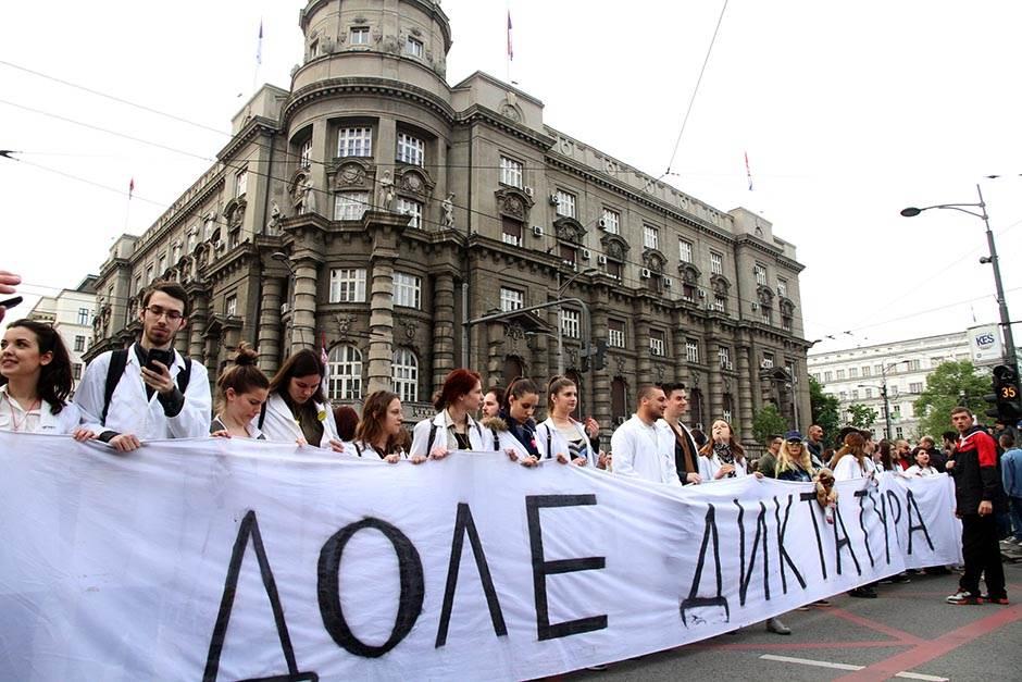 protest, deveti dan, protesti, studenti, izbori 2017