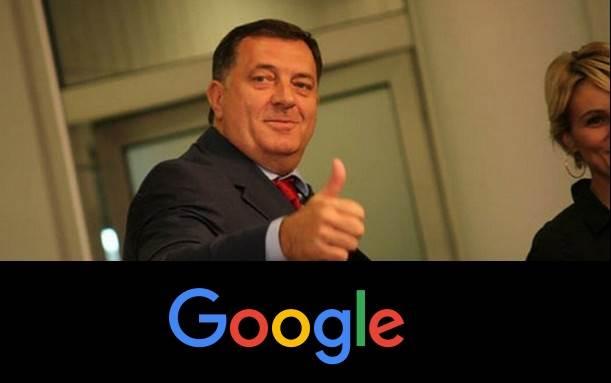 Milorad Dodik, Google
