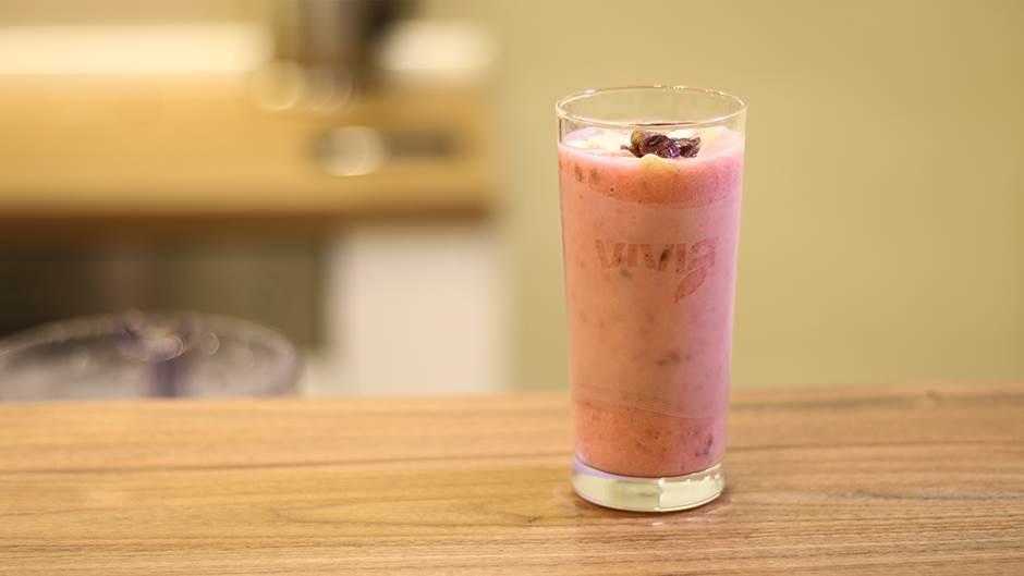 smoothie, rozi šejk