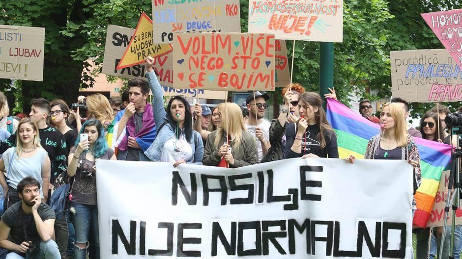 LGBT protest sarajevo