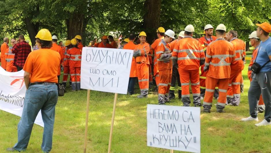 Mital, RŽR Ljubija, protest, Banjaluka