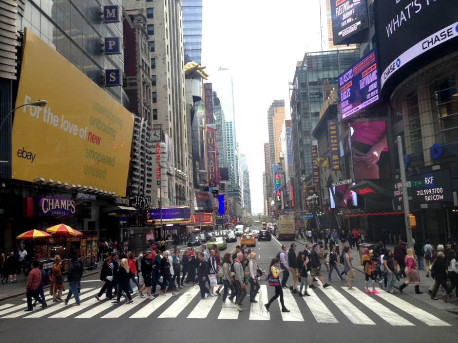 njujork, ulica, pešaci, prelaz