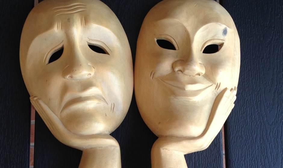 sreća, tuga, osmeh, raspoloženje, lice, lica, maske, maska, maske