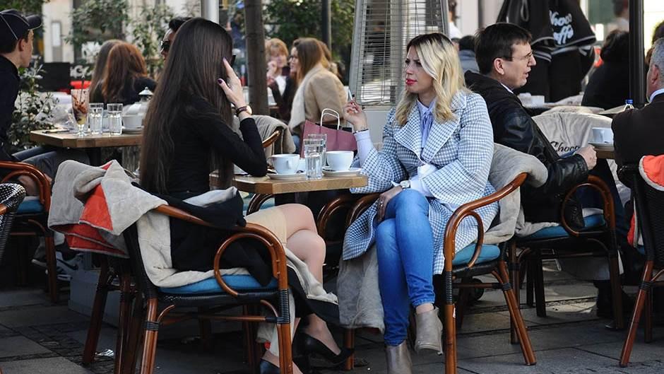 lepo vreme, temperatura, kafić, vreme, vruće, toplo, februar,