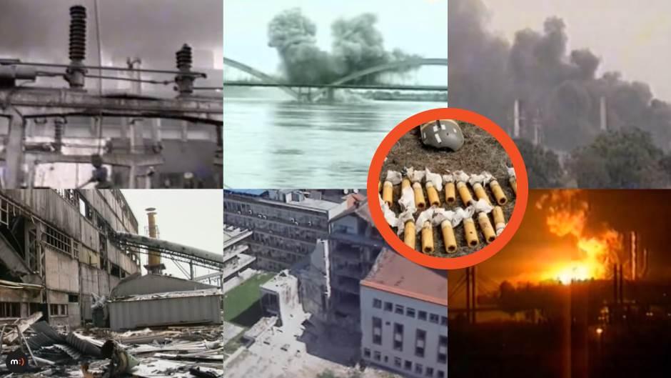 bombardovanje kasetne bombe nato agresija bombardovanje milosrdni anđeo
