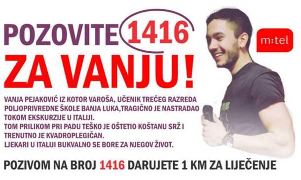 Vanja Pejaković, akcija