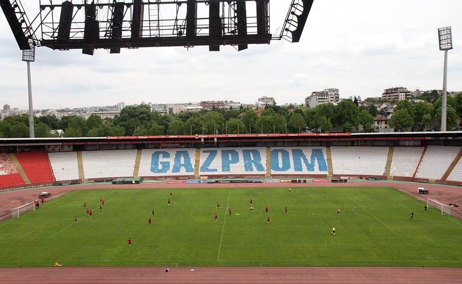trening, crvena zvezda, marakana, prazan stadion,