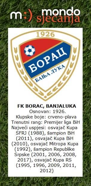 FK Borac Banjaluka MONDO sjećanja