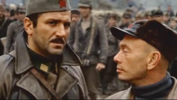 """Bata Živojinović i Jul Briner u ratnom spektaklu """"Bitka na Neretvi"""""""