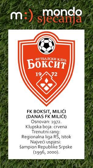 FK Boksit Milići MONDO sjećanja