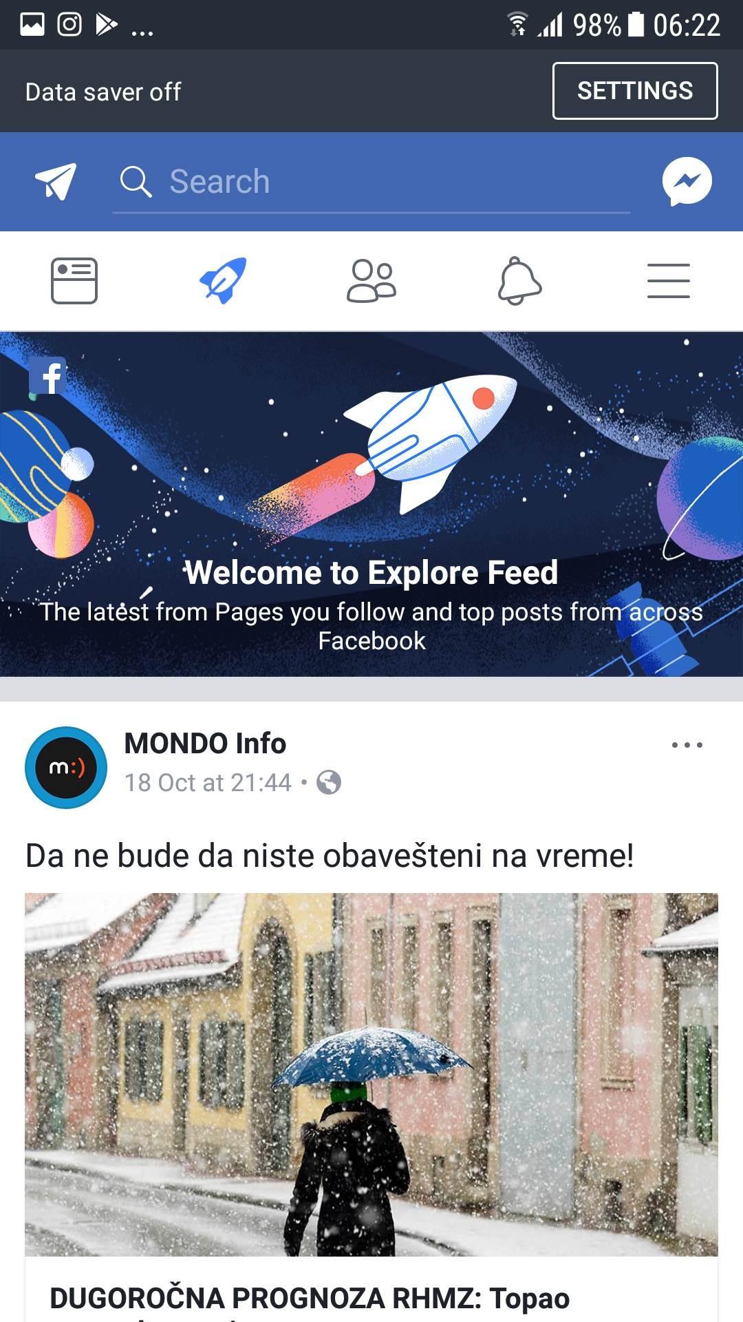 Facebook fijasko…