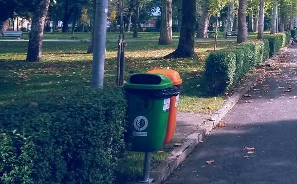 kanta za smeće, kampus, ekologija