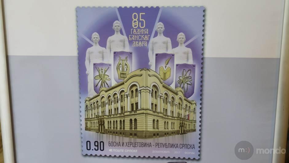 Poštanska marka za rođendan Banskog dvora