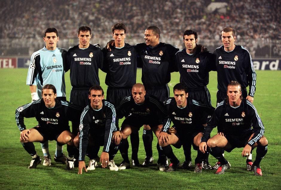Tim Real Madrida koji je 2003. godine igrao protiv Partizana u Beogradu