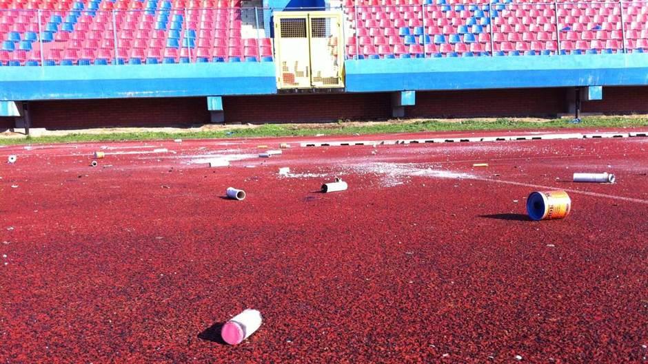 Gradski stadion u Banjaluci poslije derbija