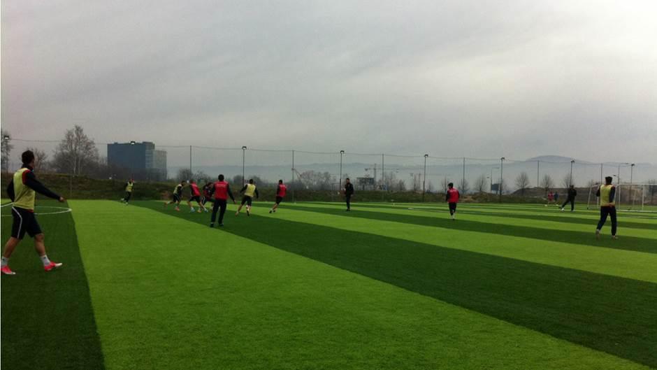 Trening fudbalera Borca