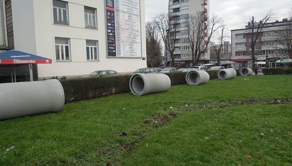 Banjaluka: Šta se to gradi u parku kod pozorišta?