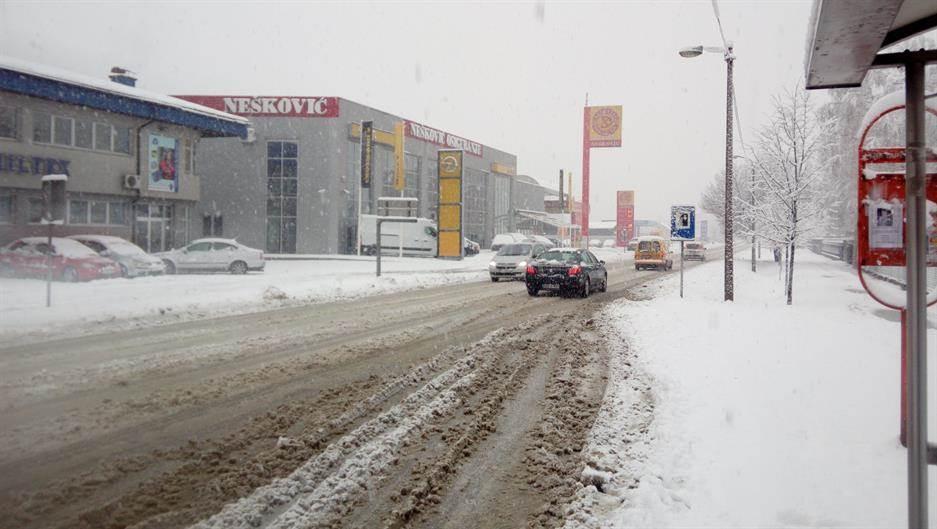 Banjaluka, snijeg, putevi