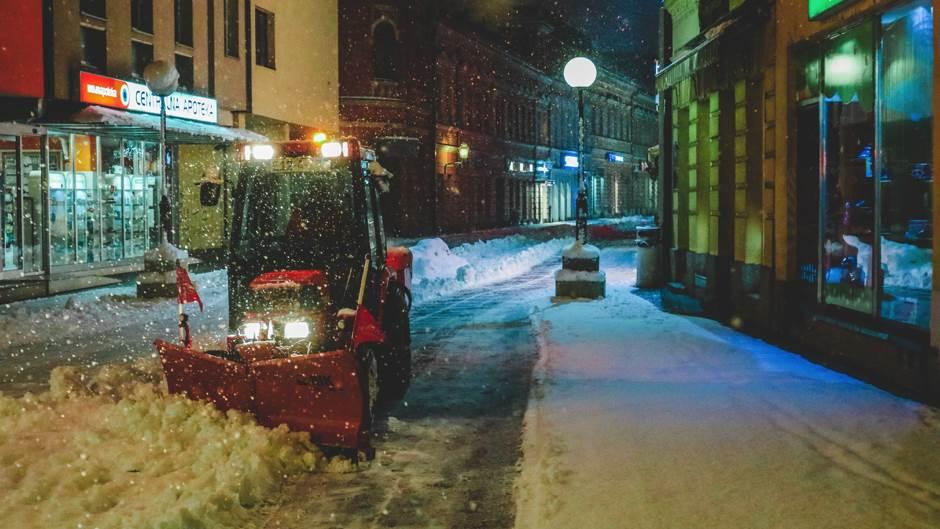 zima, banjaluka, snijeg, ulice, gospodska