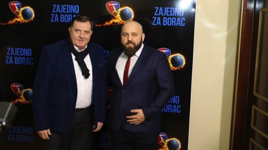 Donatorsko veče RK Borac m:tel 2018 Milorad Dodik Vladimir Branković