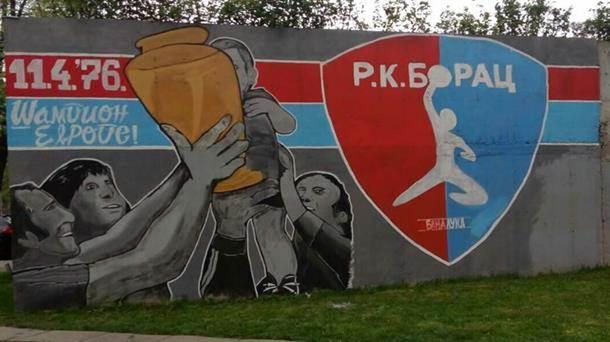RK Borac mural, grafit