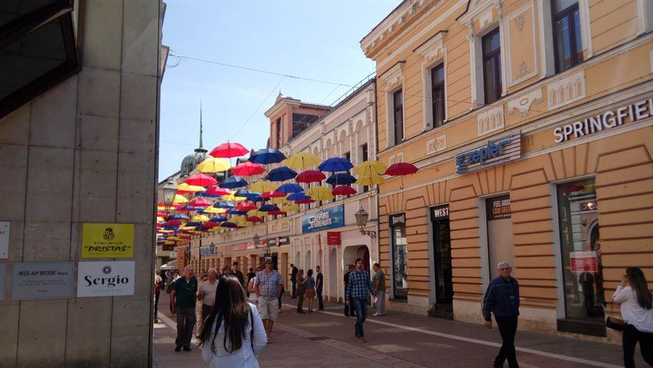 Banjaluka, kišobrani, Gospodska ulica