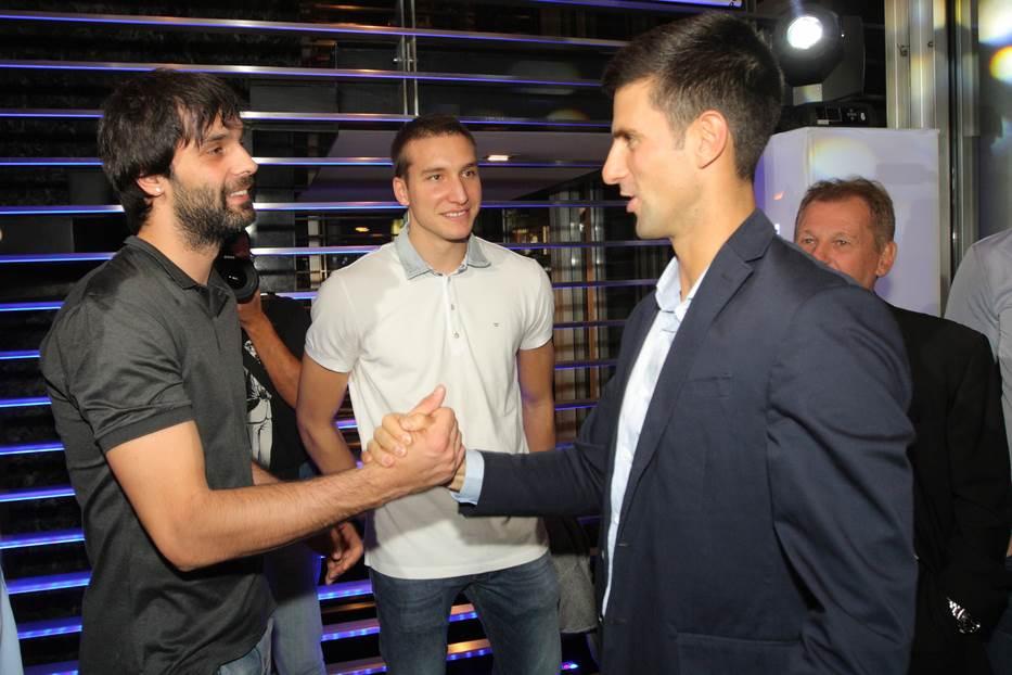 Novak Đoković, Miloš Teodosić, Bogdan Bogdanović