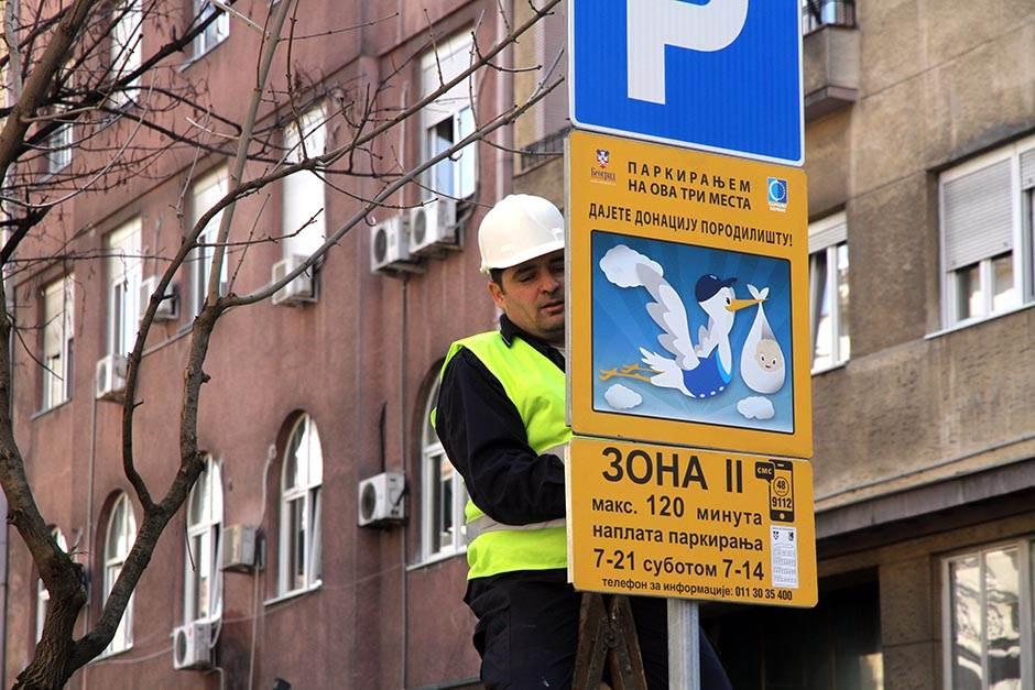 parking, porodilište, narodnog fronta, donacija