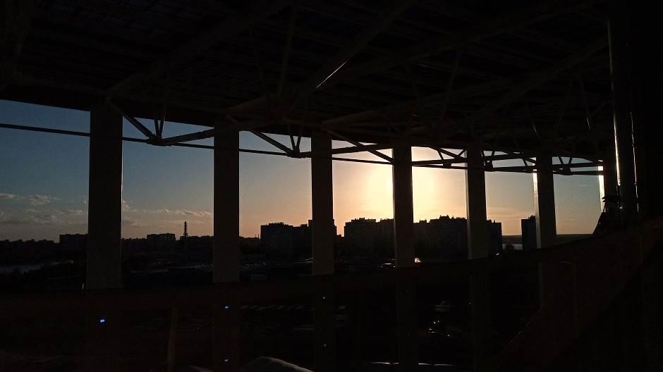 nižnji novgorod, stadion, zalazak sunca