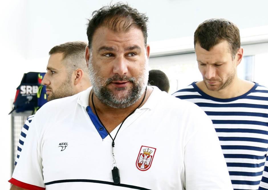 Dejan Savić na treningu reprezentacije