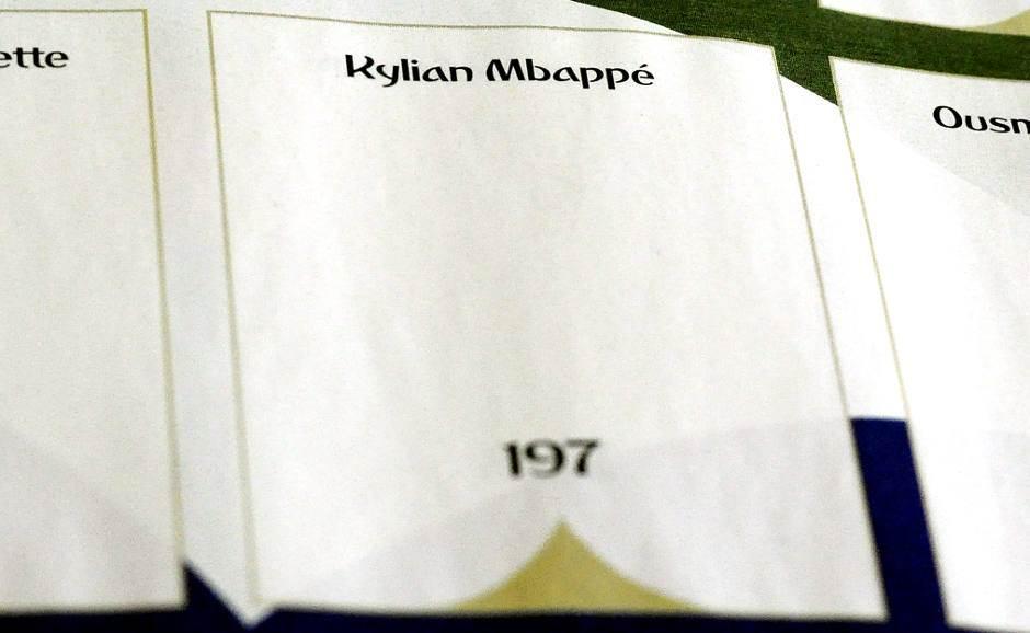 mbape, panini album