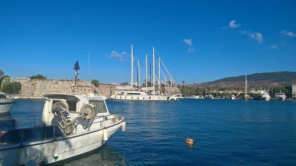 grčka, more, leto, kos, brod