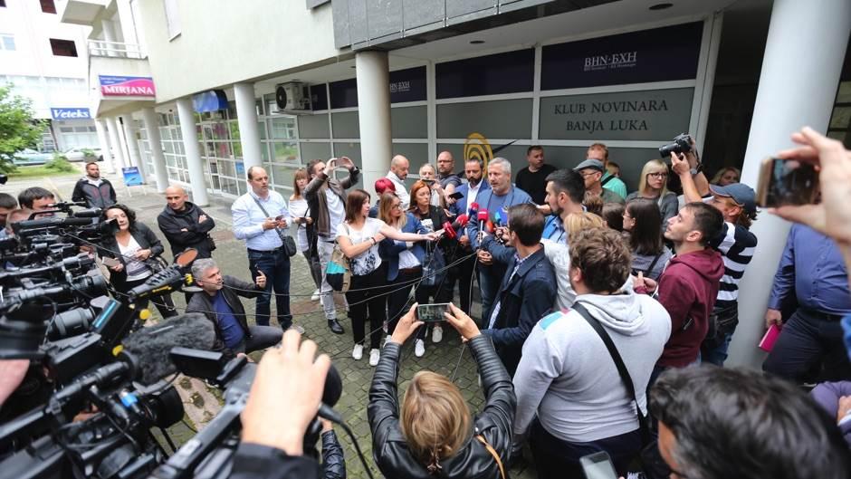 novinari, protest, podrška, vladimir kovačević, napad