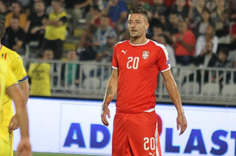 Sergej Milinković-Savić u dresu Srbije.